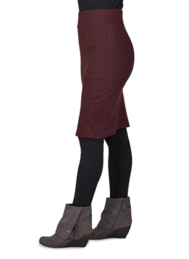 Long Andy Skirt - Organic Cotton - Oxblood, Plum, Dark Olive