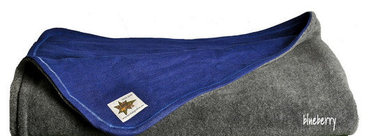 Hemp & Recycled Fleece Dog Blanket, in Blueberry or Ash