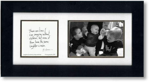 Laughter & Noise 4x6 Double Picture Frame