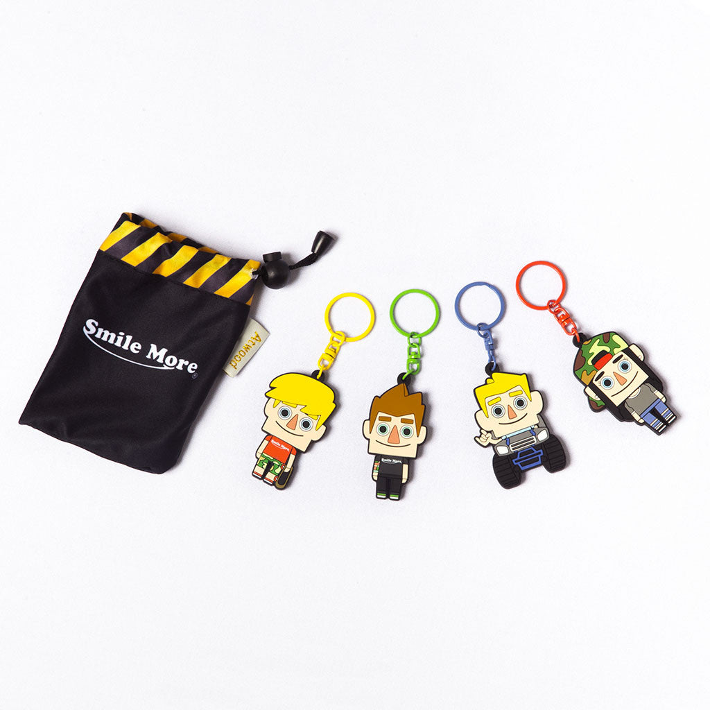 Family 4 Pack Key Chains
