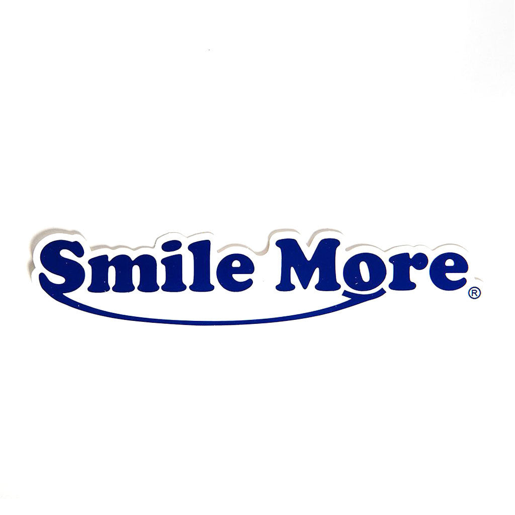 Smile More Classic Logo Stickers