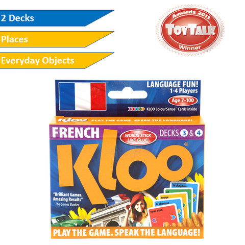 KLOO Learn French Games, Pack 2 (Decks 3 & 4)