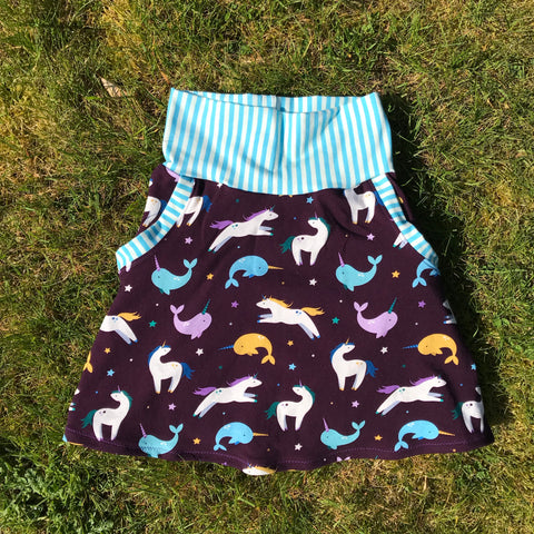 Custom Made Skirt with Pockets - Pick your Own Fabric Combination