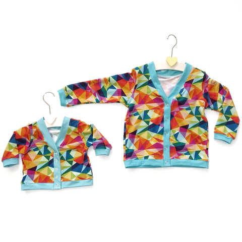 Custom Made Cardigan with Poppers - Pick your Own Fabric Combination