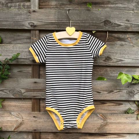 Custom made Bodysuit (short sleeves)- Pick your Own Fabric Combination