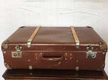 Load image into Gallery viewer, Vintage Leather Suitcase with Interior Tray $75