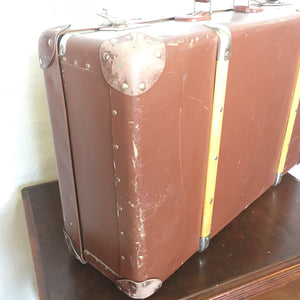 Vintage Leather Suitcase with Interior Tray $75
