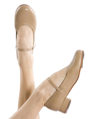 Energetiks Low Heel Tap Shoe, Tan, TSC01