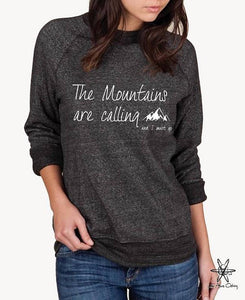 The Mountains Are Calling Champ Sweatshirt