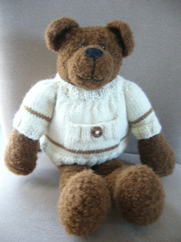 Alberto Bear - Knitted in Alpaca DK - 8 Ply Wool Equivalent