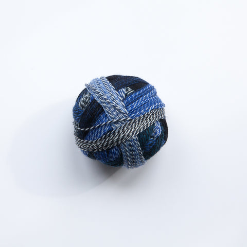 Sock Yarn - Crazy Zauberball 4 Ply Wool - Blue Break