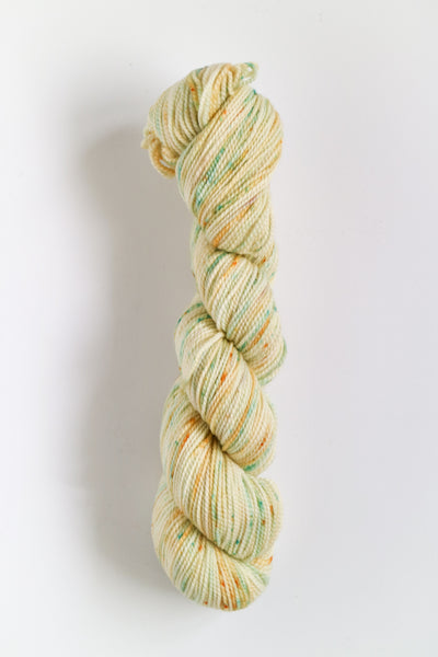 Koigu Hand Paint 4 Ply Spring Lemon Mint fleck Mix