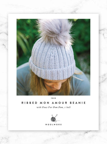 FREE Ribbed Beanie knitting pattern download 1020 - Mon Armour
