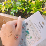 Travel Body Art Inspiration by PAPERSELF Temporary Tattoo
