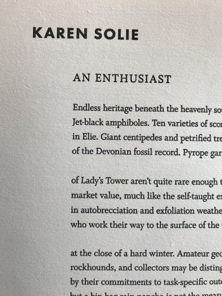 An Enthusiast by Karen Solie (from The Caiplie Caves)