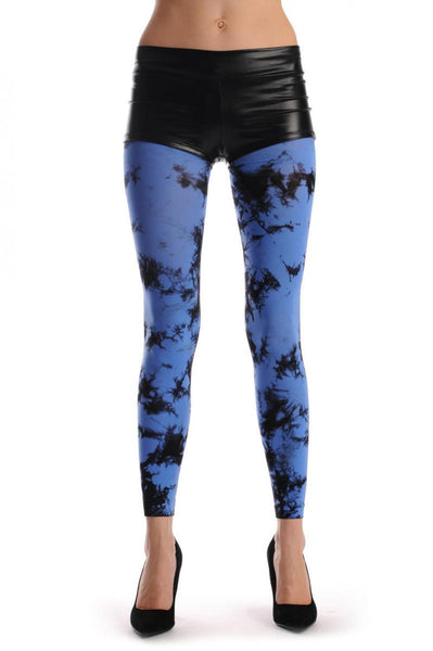 Black & Blue Colour Splash (Tie Dye) Footless