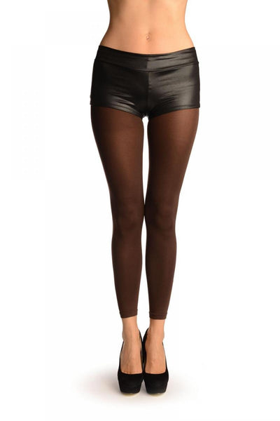 Brown 120 Denier (Winter) Footless Tights