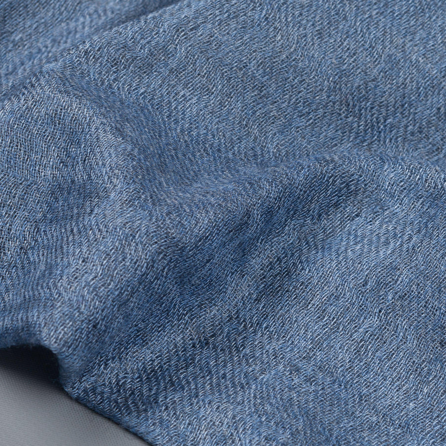 Alex Begg Staffa woven stole cashmere silk Light Denim