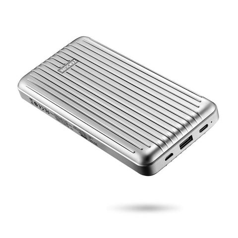 A6PD 20,100mAh Portable Charger with USB-C Input/Output - Silver