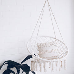 Macrame Hanging Chair - White