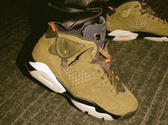 Nike Air Jordan Retro 6 TS Travis Scott Army Green - BONUS