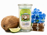 Da Lime and Da Coconut Prize Candle / Bath Bomb Set