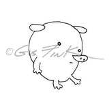 "Gus Fink | GF5351E - Puff Dog ""Schnoz""- Rubber Art Stamp"