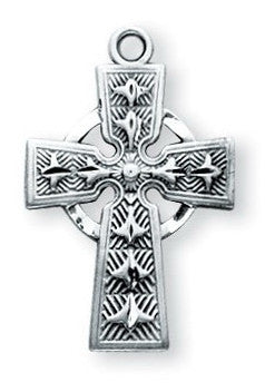 Sterling Silver Celtic Crucifix - Catholic Shoppe USA