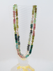 Clover: Handstrung Multicolored Tourmaline Necklace