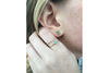 Sea Foam: Maine Green Tourmaline Earrings with a 14k Yellow Gold Post