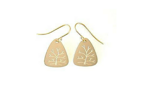 Tree Of Life Earrings in 14k Yellow Gold Small
