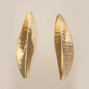 Feather Earrings in 14k Yellow Gold Small