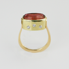 Modern Elegance: Maine Designer Cut Tourmaline Ring in 14K Yellow Gold