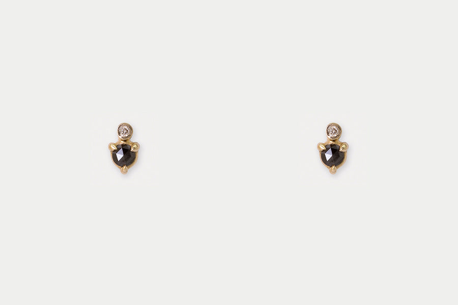 Mir Studs <br> Black Diamond ⟡ Gold