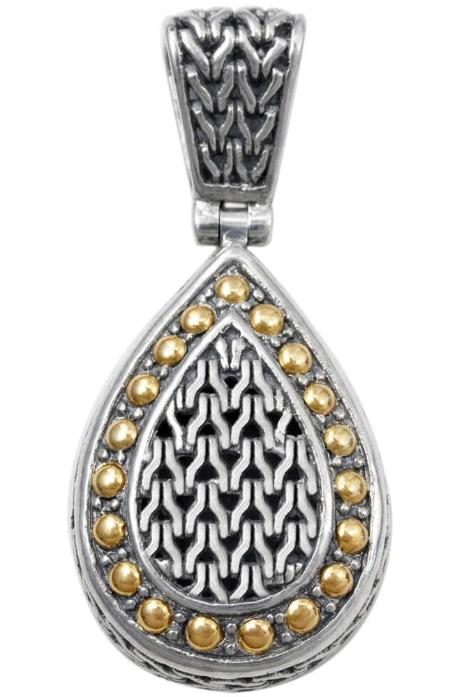 Sterling Silver Pendant with 18K Gold Accents
