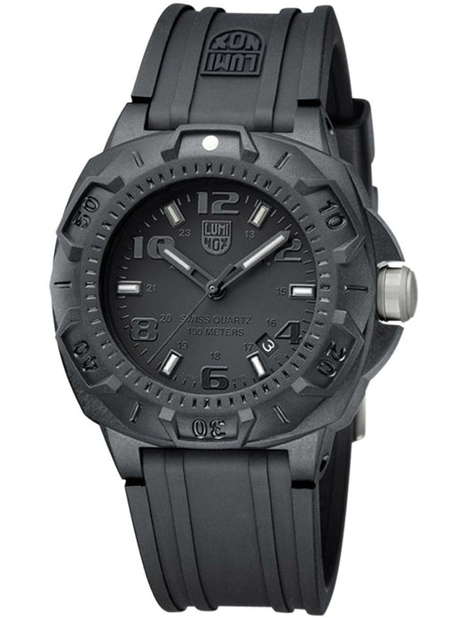 LUMINOX-3001-BO Men's Black Dial Black Silicone