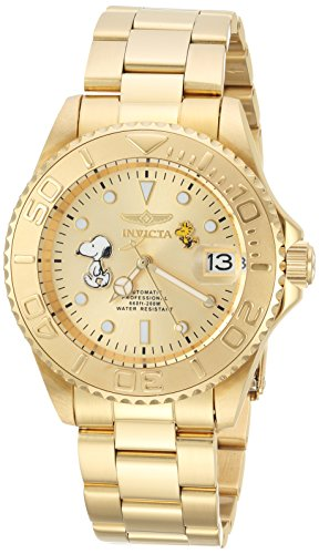 Invicta Men's 'Character Collection' Automatic Stainless Steel Diving Watch, Color:Gold-Toned (Model: 24788)
