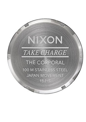 Nixon Men's 'Corporal SS' Quartz Stainless Steel Watch, Color:Silver-Toned (Model: A3462336-00)