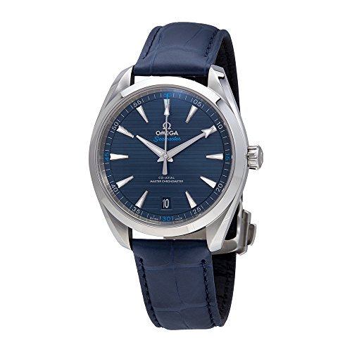Omega Seamaster Blue Dial Automatic Mens Leather Watch 220.13.41.21.03.001
