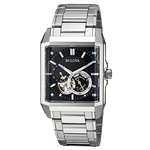 Bulova Men's Automatic Stainless Steel Casual Watch, Color:Silver-Toned (Model: 96A194)