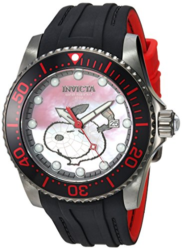 Invicta Men's 'Character Collection' Automatic Stainless Steel and Silicone Casual Watch, Color:Black (Model: 24824)