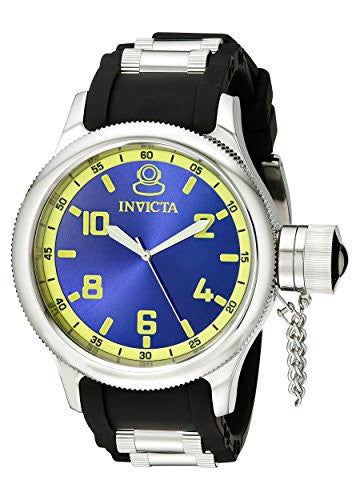 Invicta Men's 1434 Russian Diver Blue Dial Stainless Steel Watch