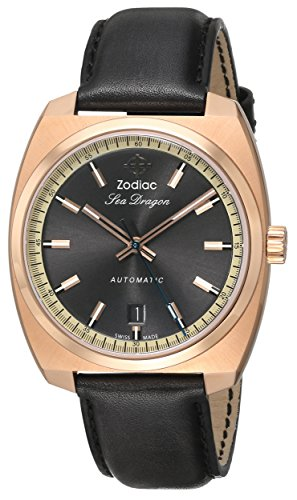 Zodiac Heritage Men's ZO9902 Sea Dragon Analog DisplaySwiss Automatic Grey Watch