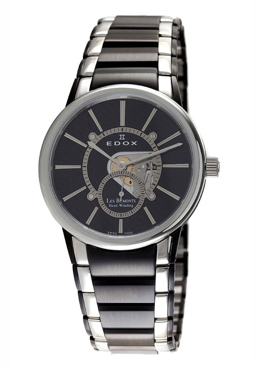 Edox 72011 357N NIN Men's Black Dial Black Tone Stainless Steel