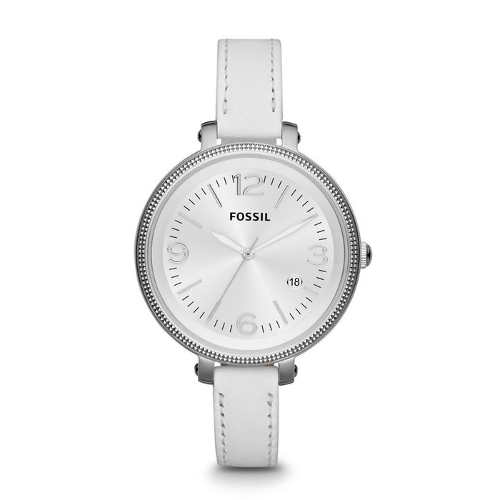 Fossil Heather Three Hand Leather Watch - White Es3276