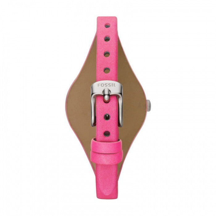 Fossil Georgia Three Hand Leather Watch - Pink Es3299