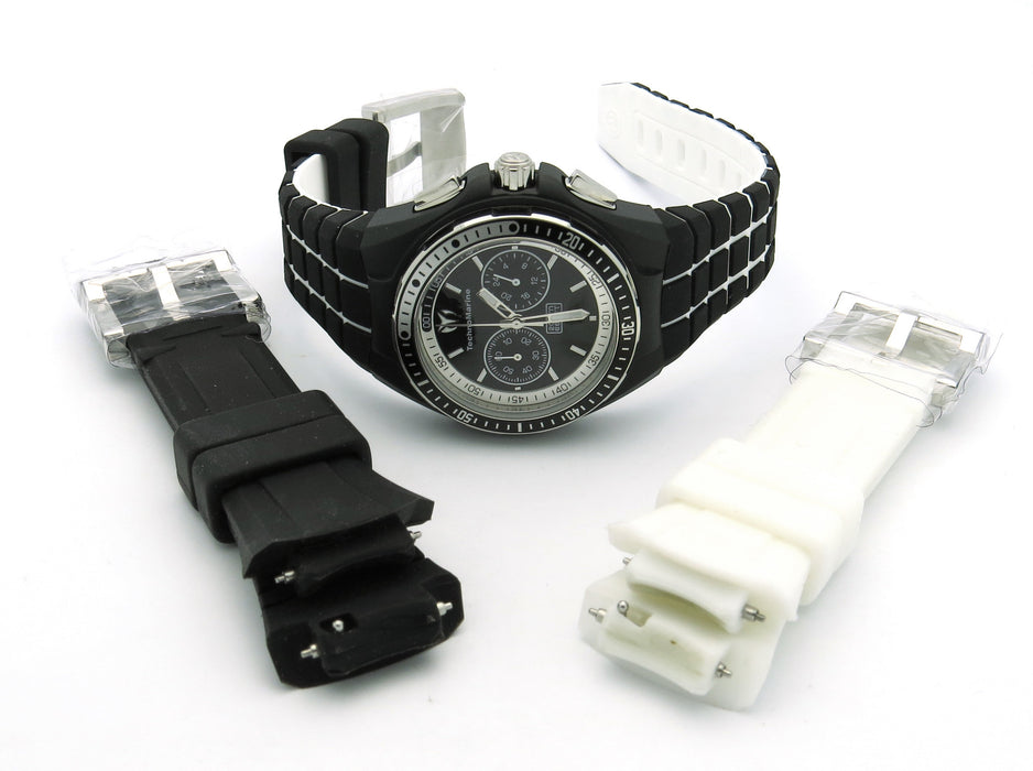 TechnoMarine Women's 110015 Cruise Sport Chronograph Black and White Dial Watch