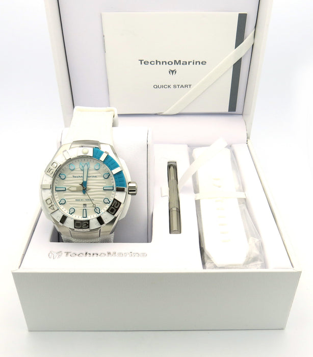 Technomarine 512003 Men's Black Reef White Nylon White Dial