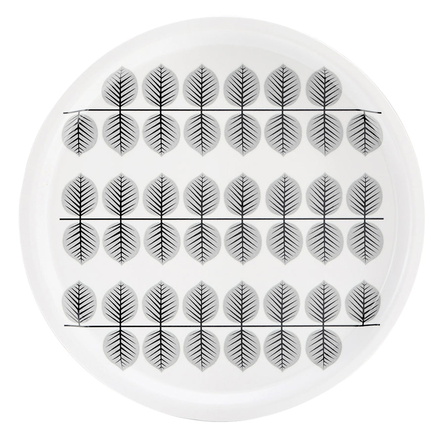 BERSÅ, GREY - TRAY ROUND