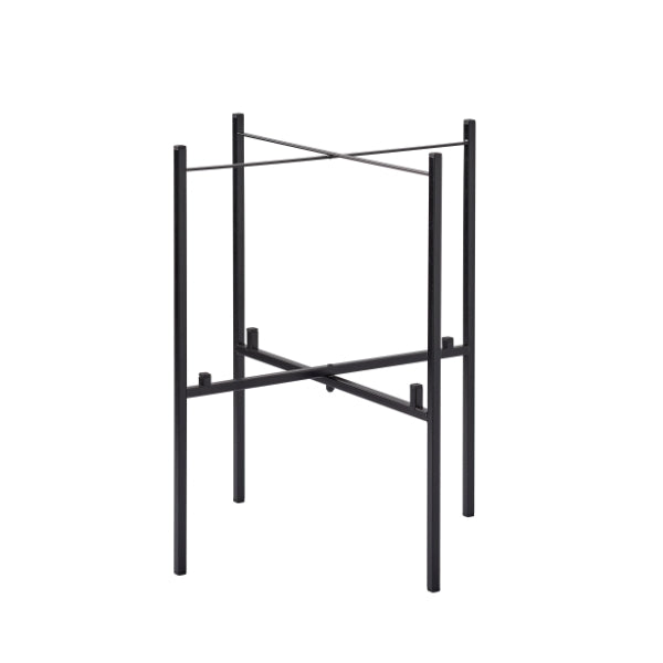 TRAY TABLE STAND FOR 2 TRAYS, BLACK